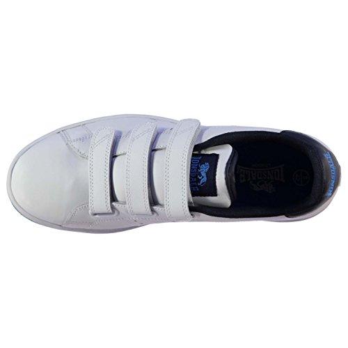Lonsdale Mens Leyton Formateurs Sport Décontracté Chaussures Chaussures Blanc / Marine