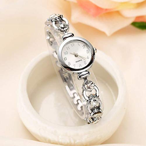 Amazon.com: Women Crystal Rhinestone Dress Watch Montre Femme Elegant Gold Bracelet Steel Quartz-Watch Gifts (Silver): Cell Phones & Accessories