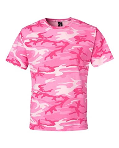 Code Five Camouflage T-Shirt (LS3906)- Pink Woodland,Medium - Woodland Camouflage Tee T-shirt Top