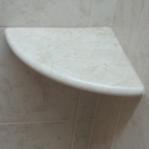 Crema Marfil Marble Both Side Polished Bathroom Corner Shelf 9x9