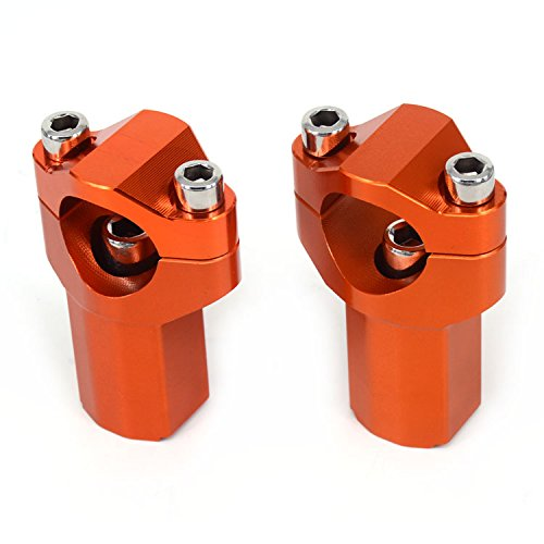 JFG RACING CNC 21mm Higher HandleBar Risers Bar Mounts Clamps For KTM 125-530 Sx Sx-F Exc Xc-W Xcf-W Exc-F 00-16