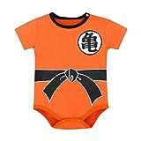 Infant Newborn Baby Boy Girl Jumpsuit Short Sleeve Romper Letter Playuit Outfits Clothes Set (Orange-A, 6-12 Months)