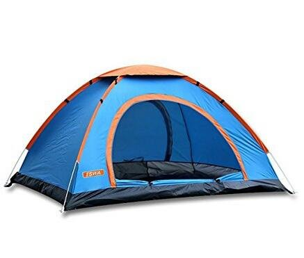 Kemuse Pop Up Camping Tent, Automatic & Instant Setup Dome Waterproof Backpacking Tents for 2-4 Person Portable Hiking Pack Shelters