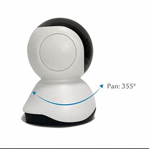 Video Surveillance IP Security Camera Schwenkbare Ir Monitor Echtzeit ÜBertragung ,P2P Funktion,Home Camera für Baby/Alter/Haustier/Kinderfrau Monitor mit APP/Anleitung/Support