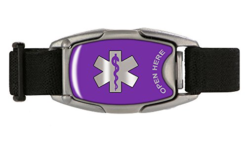 Medical Alert ID Bracelet, Safety, Sport and Everyday Wristband (Medical Id Band)