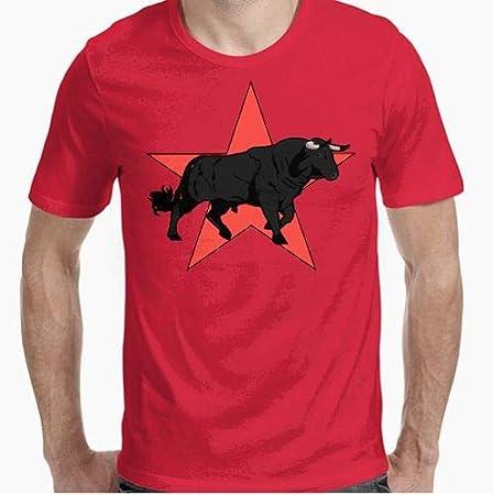 Camiseta - diseño Original - Toro - M: Amazon.es: Hogar
