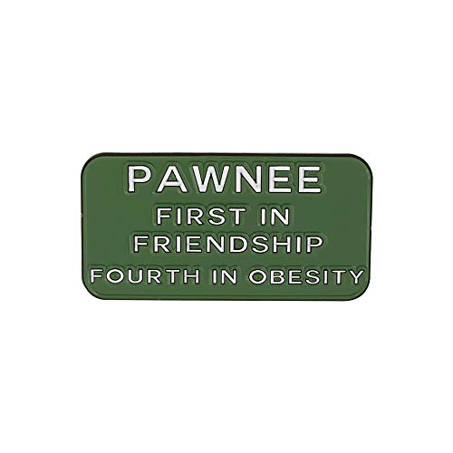WIZARDPINS Pawnee First in Friendship Fourth in Obesity Quote TV Series Enamel Pin- 5 Pins (Meyer Pivot Pin)