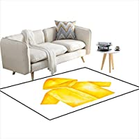 """Area Rugs for Bedroom Yellow Raincoat wi hooansleeves to wear Outdoors in barainy Weather 55""""x77"""""""