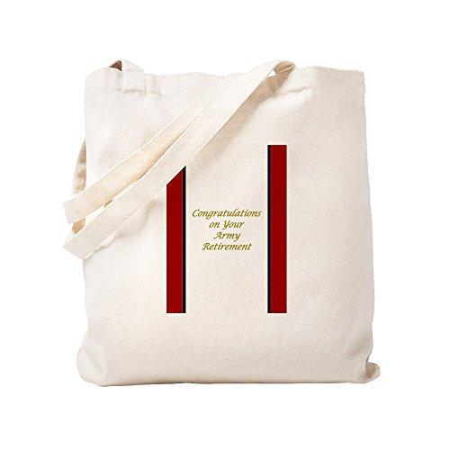 CafePress - U. S. Army Retirement Congratulations - Natural Canvas Tote Bag, Cloth Shopping Bag - Service Distinguished Award