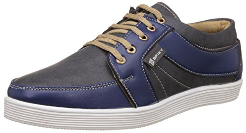 Spiky Men's Black and Blue Sneakers - 9 UK/India (43 EU)(SPS7020)