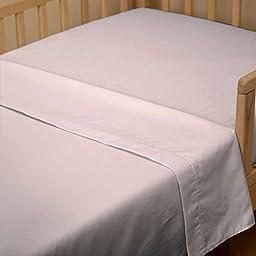 Carousel Designs Pink Satin Charmeuse Toddler Bed Sheet Top Flat