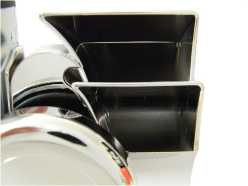 139db Made in Italy Chrome Silver Loud Motorcycle 12V Air Horn Euro Blast Euroblast for Harley Davidson /& other bikes