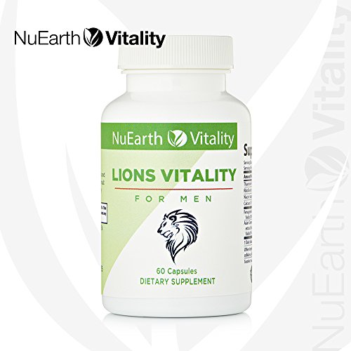 LIONS VITALITY - Natural Testosterone Booster Supplement for Men - Male Sex Hormone Support Pill - Stamina, Strength & Libido Boost - Improves Performance, Function & Drive For Sexual Wellness - 60Cap (Sexual Drive Men)