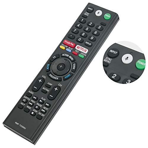 New Replace RMF-TX300U Voice Remote Control with Mic fit for Sony 4K Smart LED TV HDTV Bravia XBR-43X800E XBR-49X800E XBR-55X800E XBR-55X806E XBR-65X850E 149331811 KDL-50W800C KDL-55W800C KDL-65W800C (Tv Remote Control For Smart Sony)