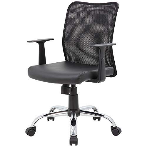 BOSS Office Products B6116C-CS Budget Task Chair with T-Arms, Black by BOSS