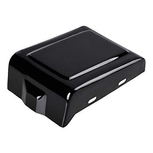 1X Glossy Black Heavy Duty Metal Battery Right Side Cover Compatible For Harley Dyna Low Rider Fat Street Switchback Glide Wide Bob Super Street by Anizo
