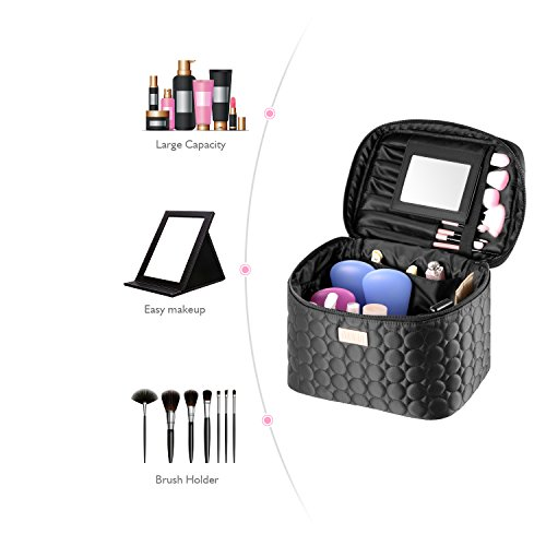 DRQ Large Makeup Travel Bag Printed Multifunction Portable Cosmetic Makeup Pouch Case Organizer for Women Makeup,Beauty…
