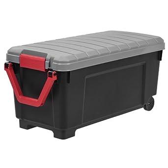 "Iris 42.25 Gallon baúl de almacenaje w/ruedas y asa – 40,6 """