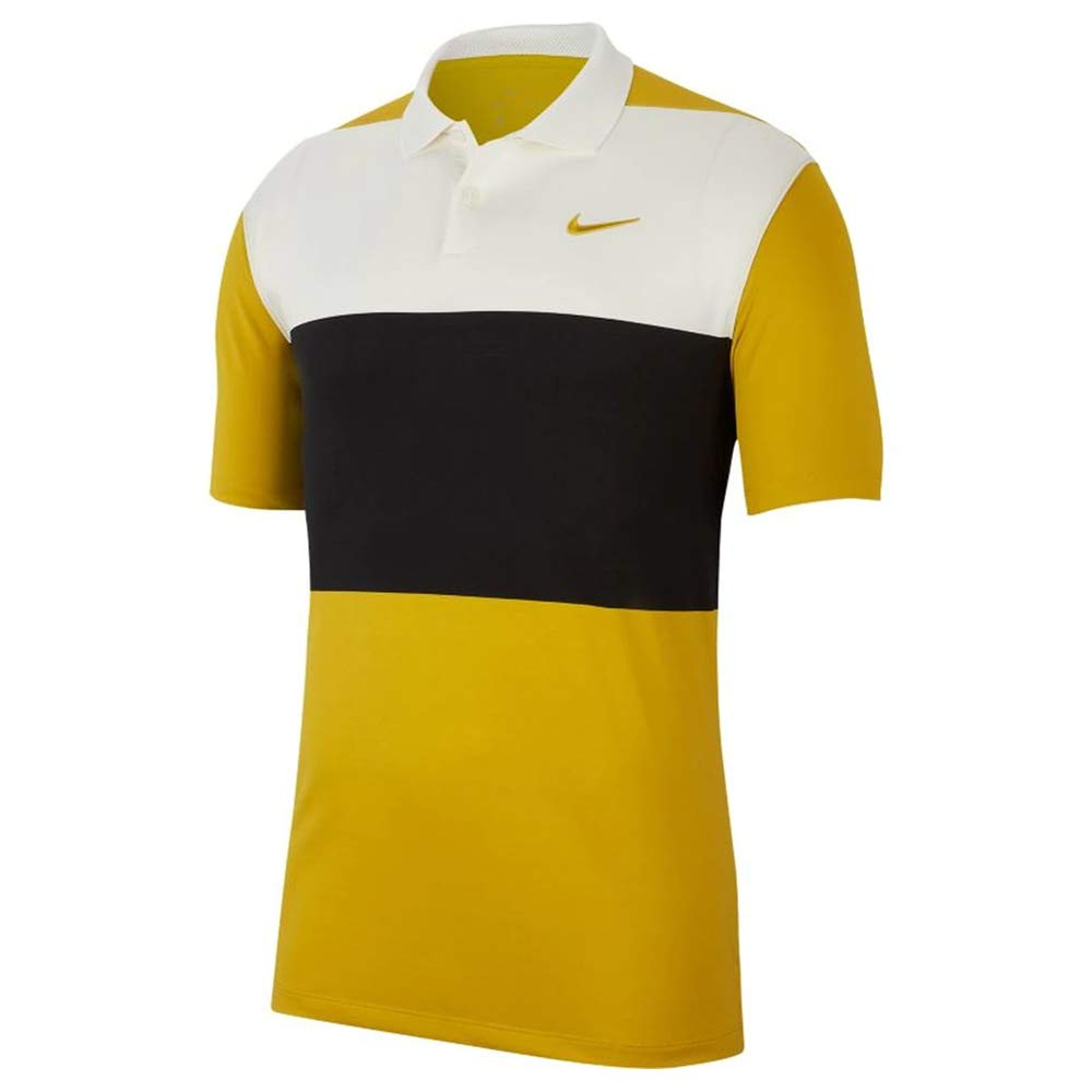 Nike Dri Fit Vapor CB OLC Golf Polo 2019 Saffron Quartz/Sail/Black ...