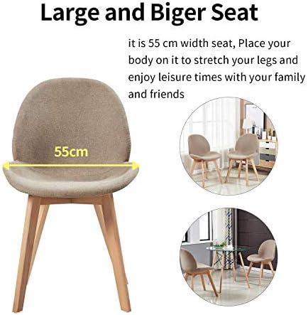 H.J WeDoo Lot de 4 Chaise à Manger Scandinave en Tissu,Chaise de Style Feuille avec Pieds en Bois de Hêtre Massif et Assise en PU, Taupe