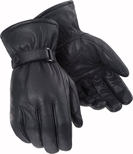 Tour Master Custom Midweight Mens Leather Cruiser Motorcycle Gloves - Black/X-Large ()