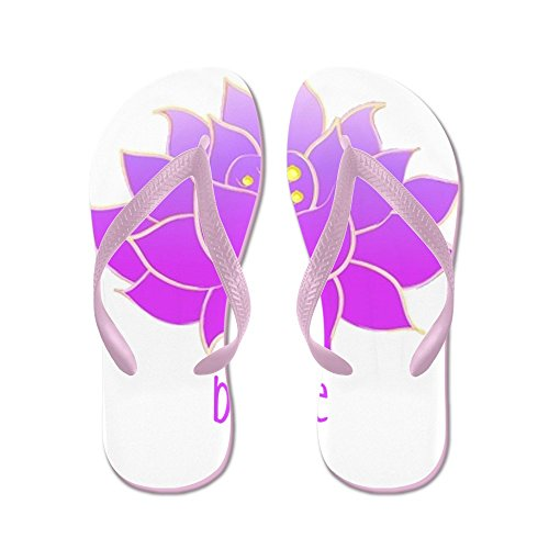 CafePress Breathe Lotus - Flip Flops, Funny Thong Sandals, Beach Sandals Pink
