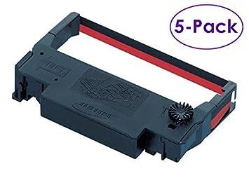 Amazon.com: 5-Pack Bixolon América Ribbon Cartridge Negro ...