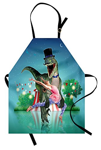 Scary Ballerina Costumes Ideas - Ambesonne Modern Apron, Scary Dinasor in