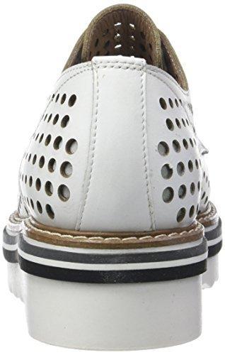 005 Donna Cordones de para Ruby PIU Blanc Zapatos Derby Bianco 52719 Mujer HZPqH