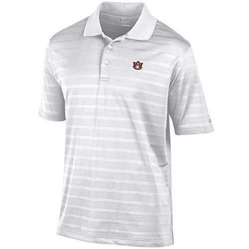 Tiger Striped Polo Shirt - Auburn Tigers Polo Striped White - L