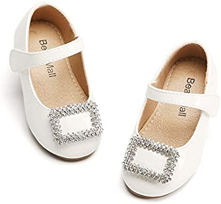 Toddler//Little Kid Bear Mall Girls Mary Jane School Uniform Shoes Princess Dress Ballet Flats Shoes