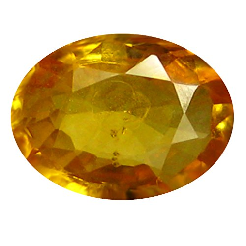 0.78 ct AAA Oval Shape (7 x 5 mm) Orange Yellow Ceylon Sapphire Natural Loose (Heated Yellow Sapphire)