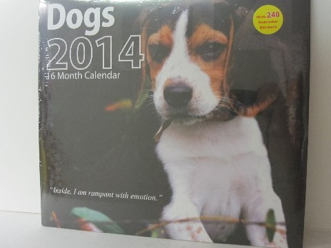 2014 Dogs Calendar (12x12) Wall Calendar with 240 Reminder Stickers
