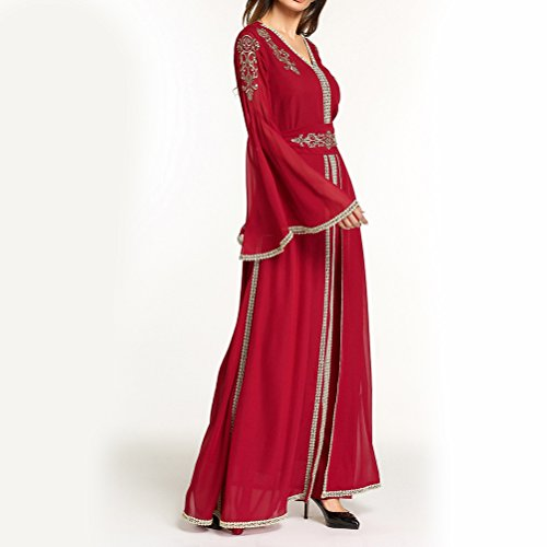 Zhuhaitf Balle Modeste Robe Arabe Longue Robe Mode Abaya Dames Vêtements Filles Islamic Caftans / Caftan Jalabiya