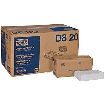Tork Advanced Soft D820 Minifold Dispenser Napkin, 1-Ply, 13