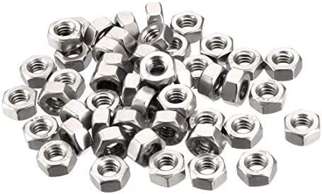100 pcs  #2-56 UNC hex nuts Stainless Steel Nut