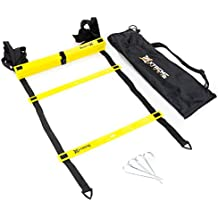 Premium Agility Speed Ladder - 13' Long with 12 Adjustable Rungs, Ideal for Soccer/Football, Basketball, Hockey, Speed Training, Kids, Coaches and All Sports. Convenient Carry/Storage Bag Included.