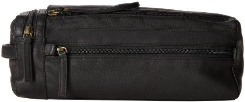 Derek Alexander Twin Top Zip Shave Kit, Black, One Size