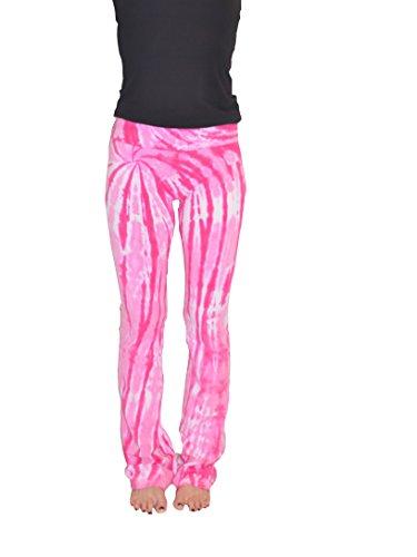 Colortone Tie Dye Yoga Pants SM Twist Pink -