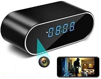 Opinión sobre Cámara Espía Oculta, WiFi Cámara Oculta Reloj HD 1080P Cámara con visión Nocturna por Infrarrojos, detección de Movimiento, grabación en Bucle, para la Seguridad del hogar en Interiores