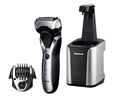 Panasonic ES-RT97-S Arc3 Electric Razor, Men s 3-Blade Cordless with Wet Dry Convenience, Comb Attachment for Trimming, and included Premium Automatic Clean Charge Station