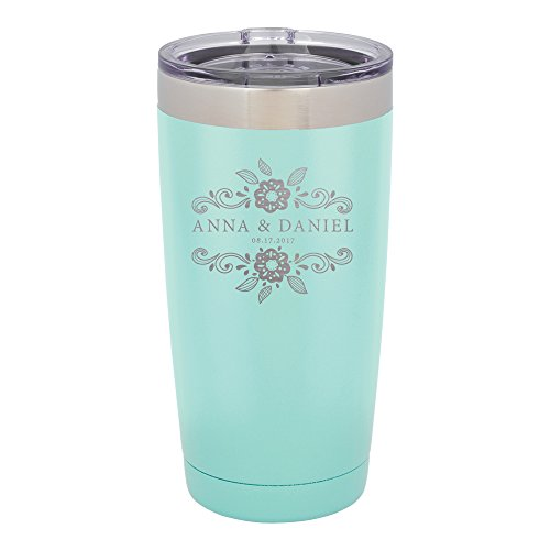 (Froolu Travel Coffee Mug - Mint Personalized Laser Engraved Tumbler - Hydro Travel Cup Flask)