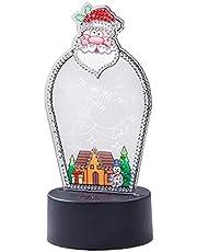 TOSSPER Doe-het-zelf 5d Kerst Nachtlamp Mozaïek Borduurlamp Licht Kinderen Slaapkamer Nachtlampje Kerst Decoratie Ambacht Geschenken