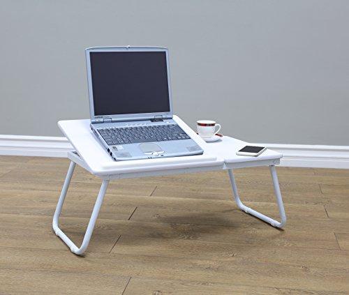 Frenchi Home Furnishing Large Size Portable Laptop Desk Stand Foldable Legs, White