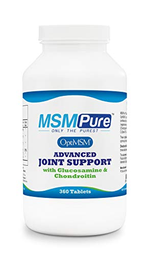 Kala Health MSMPure Advanced Joint Support, Glucosamine, Chondroitin & MSM, 360 Tablets, Max Strength Joint Pain Relief Supplement, Muscle Soreness, Inflammation Relief & Immune Support, Made in USA