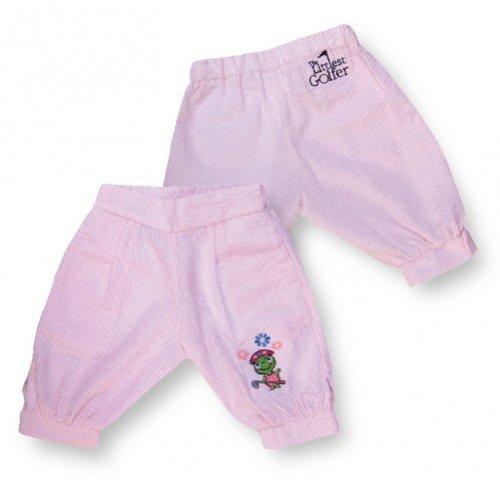 no!no! Littlest Golfer Toddler Girls Pink Seersucker Golf Knickers Pants 3T