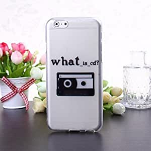 YULIN What is CD Pattern Transparent TPU Soft Case for iPhone 6 Plus