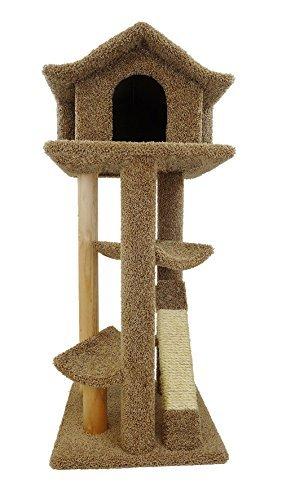 New Cat Condos Premier Large Cat Pagodas Tree, Brown