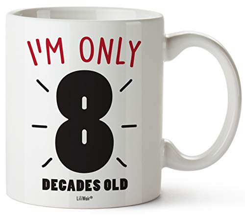 80th Birthday Gifts For Women Eighty Years Old Men Gift Mugs Happy Funny 80 Mens Womens Womans Wifes Female Man Best Friend 1939 Male Mug Unique Ideas 39 Woman Wife Gag Dad Girls Guys Good Husband (Basket Birthday Gift 80th)