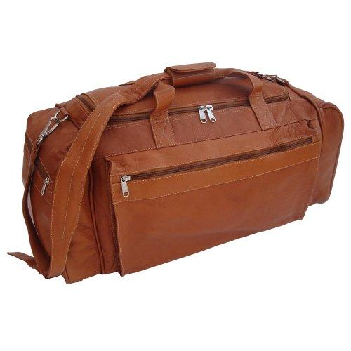 Piel Leather Large Duffel Bag, Saddle, One Size
